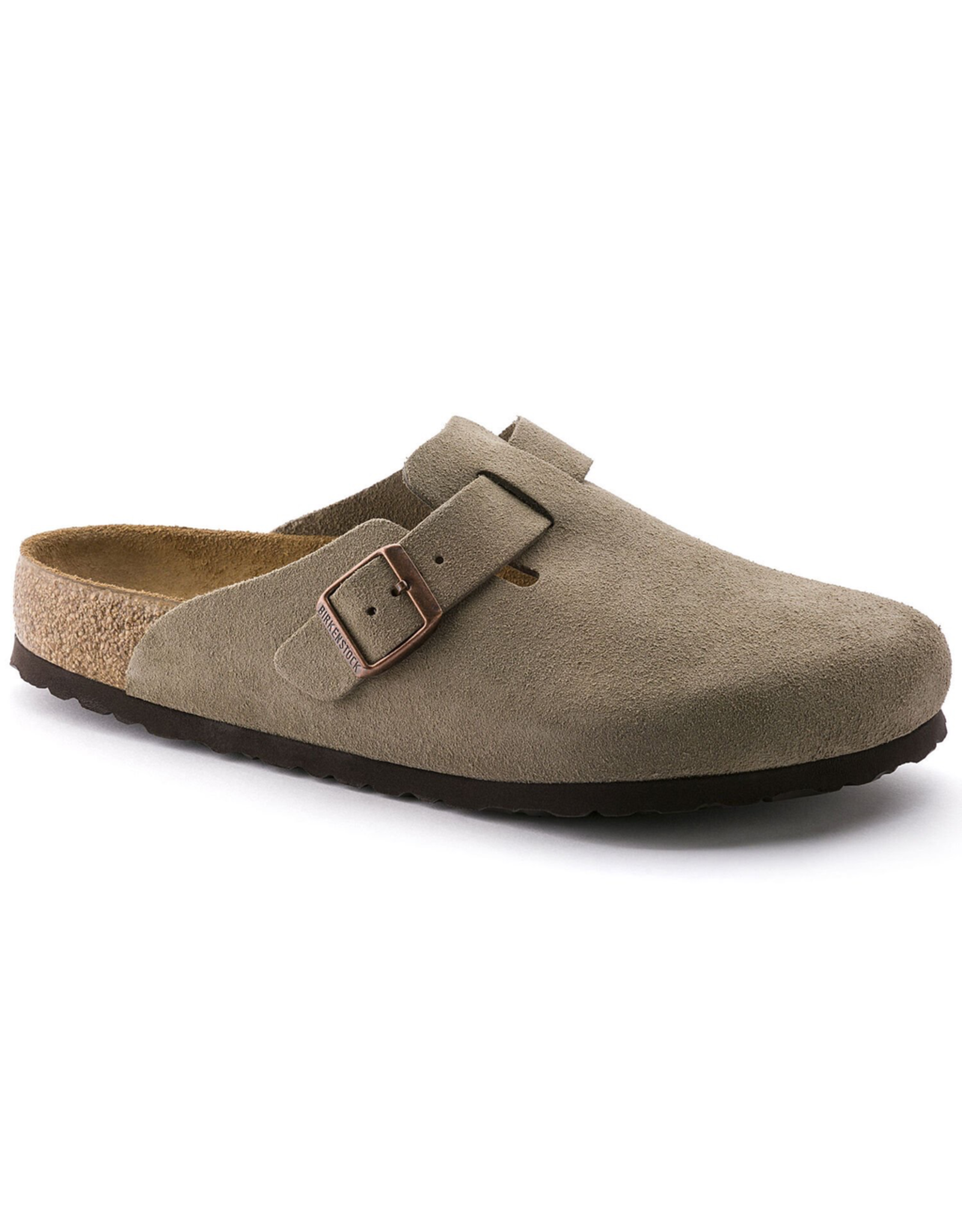 Birkenstock Taupe Suede Boston