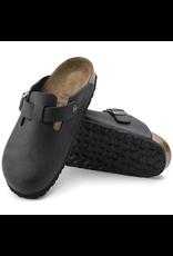 Birkenstock Black Oiled Leather Boston