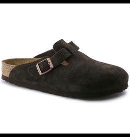 Birkenstock Mocha Suede Boston Soft Footbed Clog