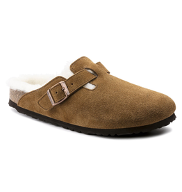 Birkenstock Boston Shearling Mink Suede