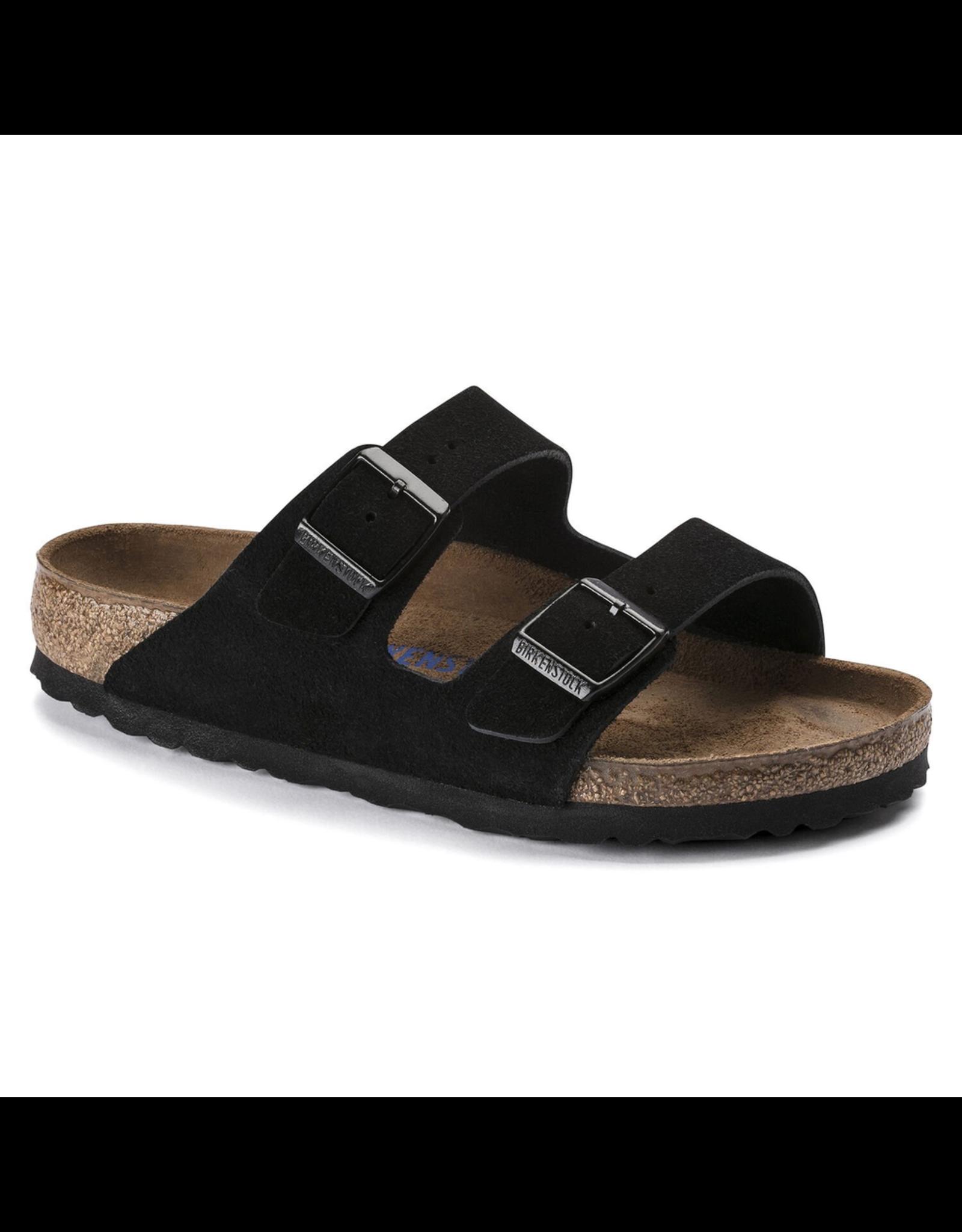 Birkenstock Arizona Soft Footbed Black Suede Sandal