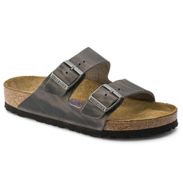 Birkenstock Arizona Soft Footbed Iron Oiled Leather