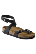 Birkenstock Black Oiled Leather Yara Sandal