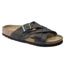 Birkenstock Men's Lugano Camberra Iron Leather Sandal