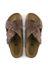 Birkenstock Men's Lugano Camberra Old Tobacco Leather Sandal