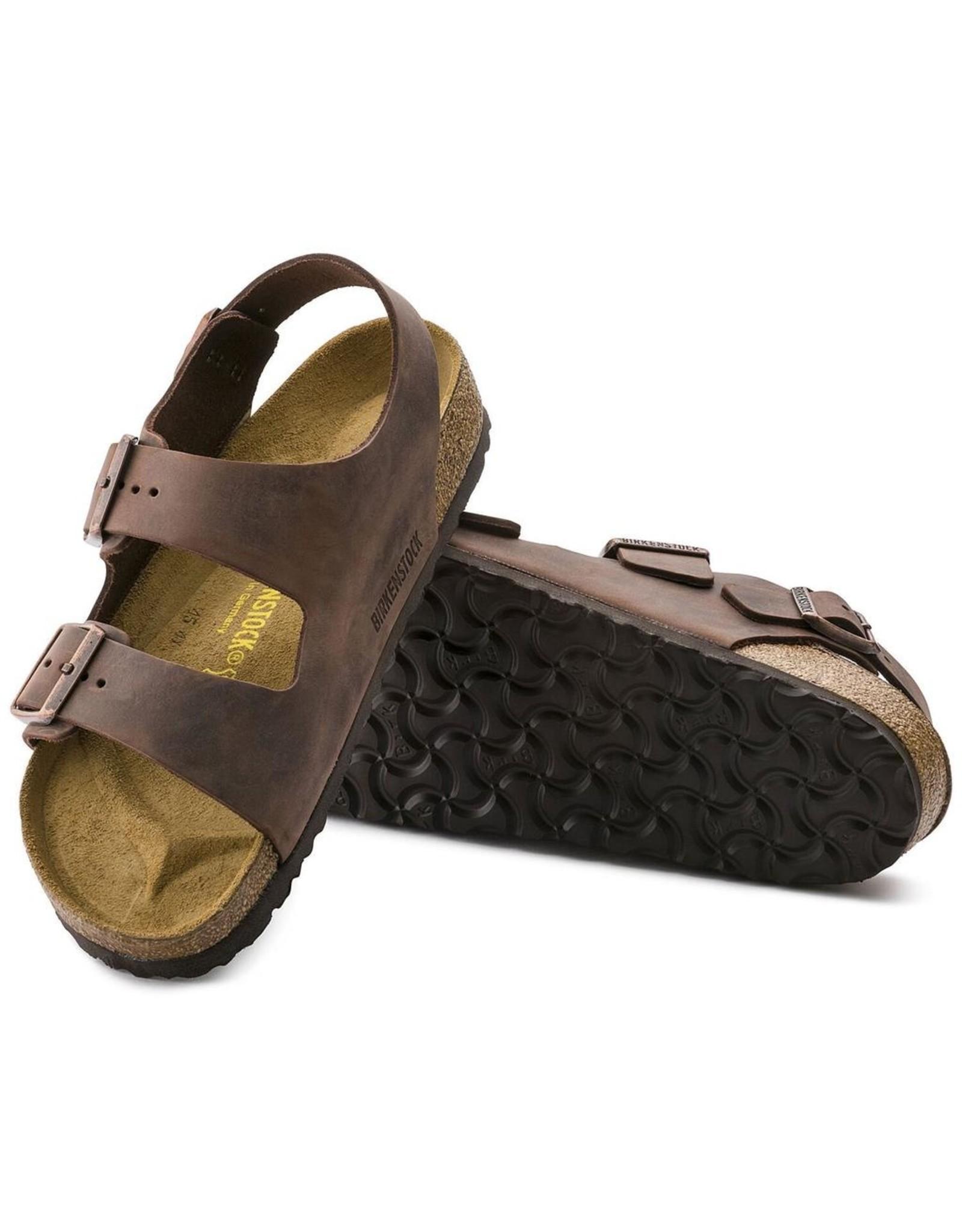 Birkenstock Milano Habana Oiled Leather Sandal