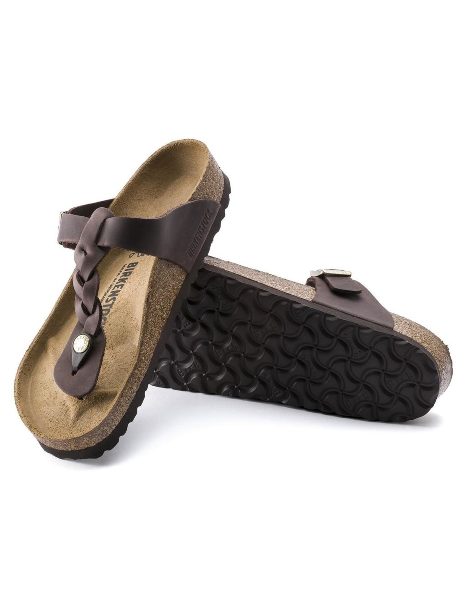 Birkenstock Habana Leather Gizeh Braid Sandal