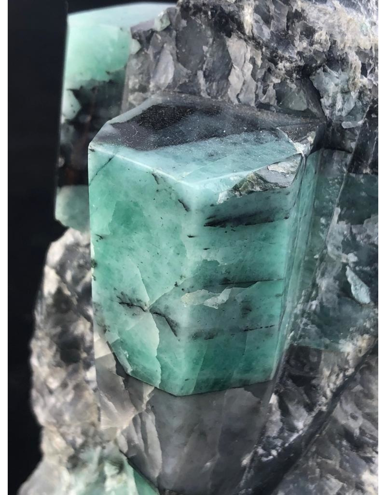 Polished Emerald in Matrix