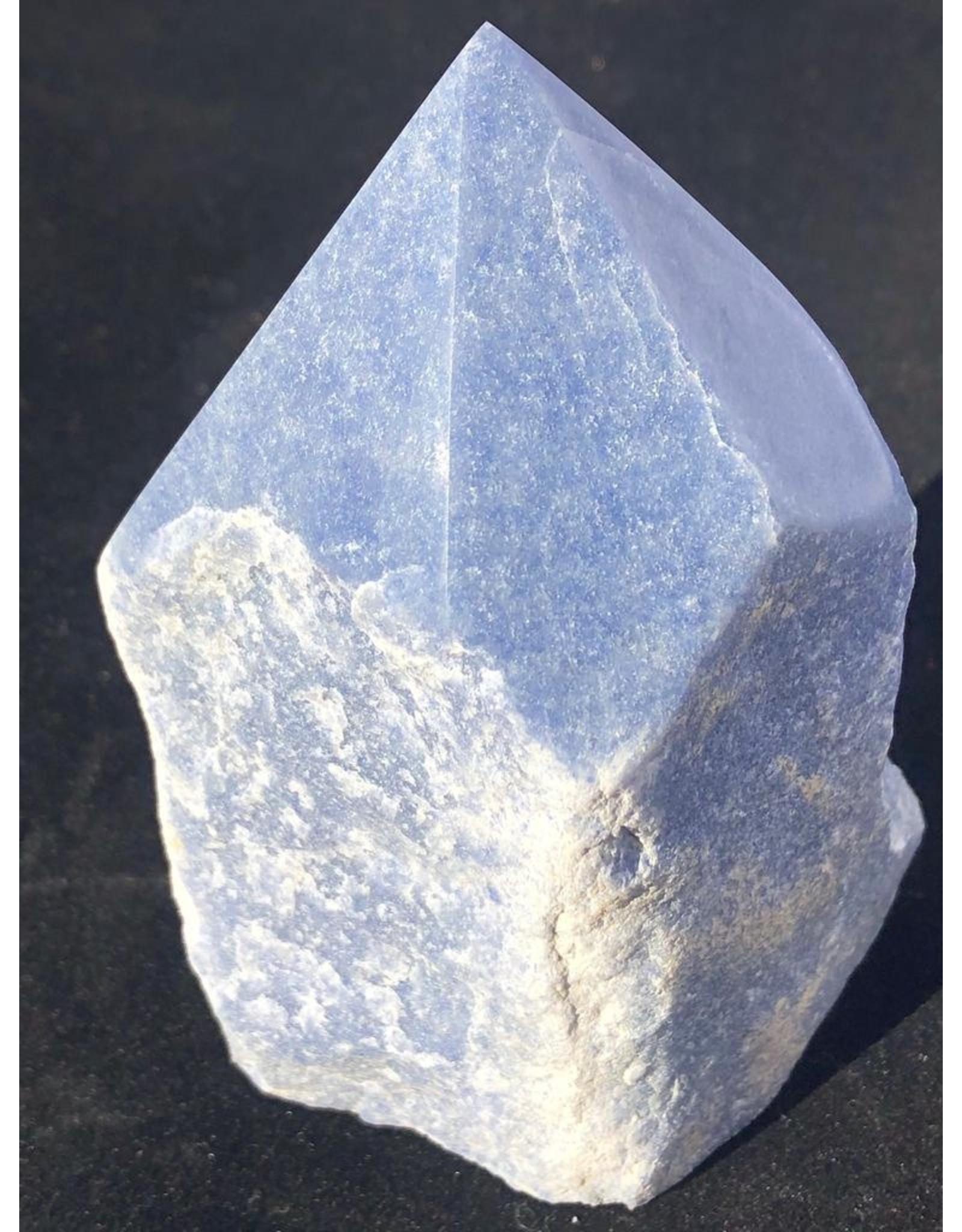 Rough & Polished Blue Quartz Point