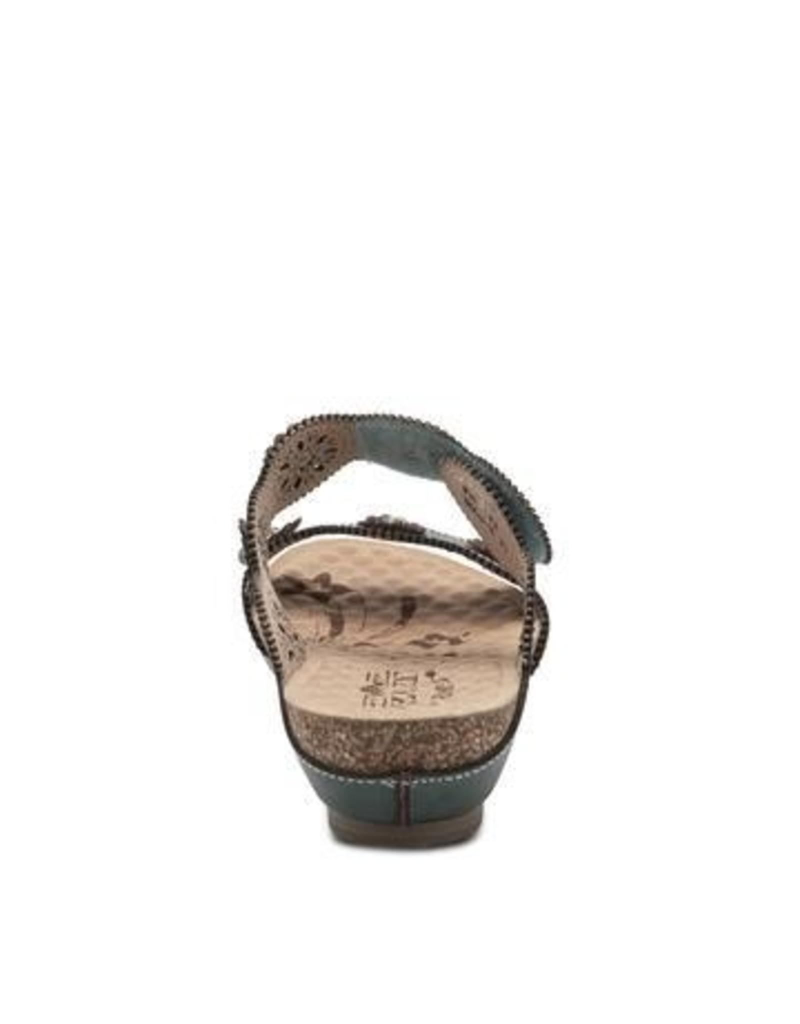 Markita  Leather Slide Sandal