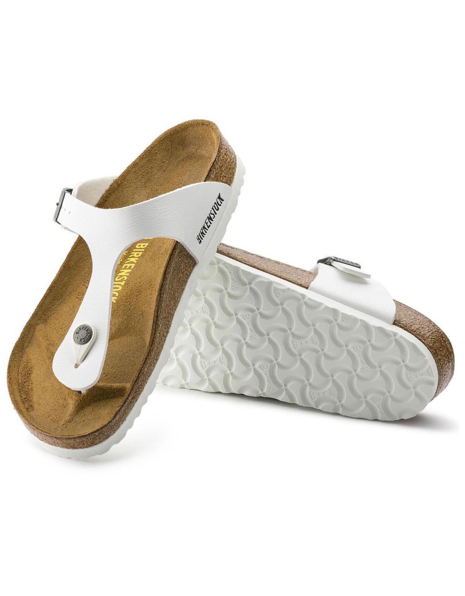 Birkenstock White Birko-Flor Gizeh Sandal
