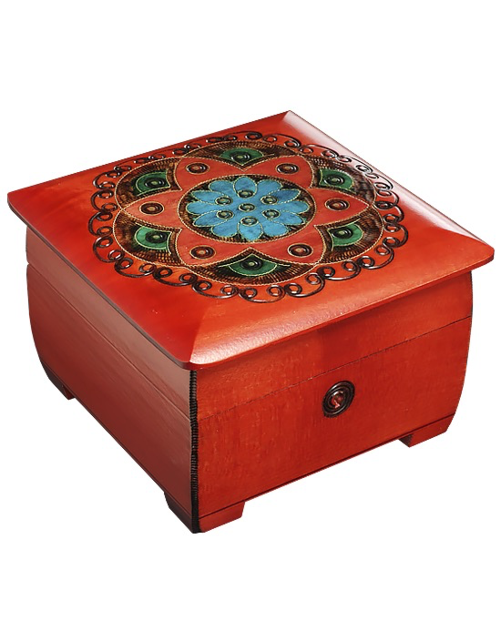 Enchanted Boxes Chakra Keyed Red & Blue Chest