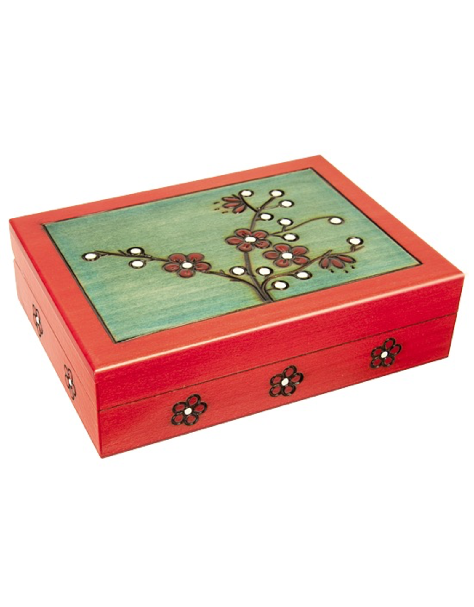 Enchanted Boxes Blooming Plum Wooden Box