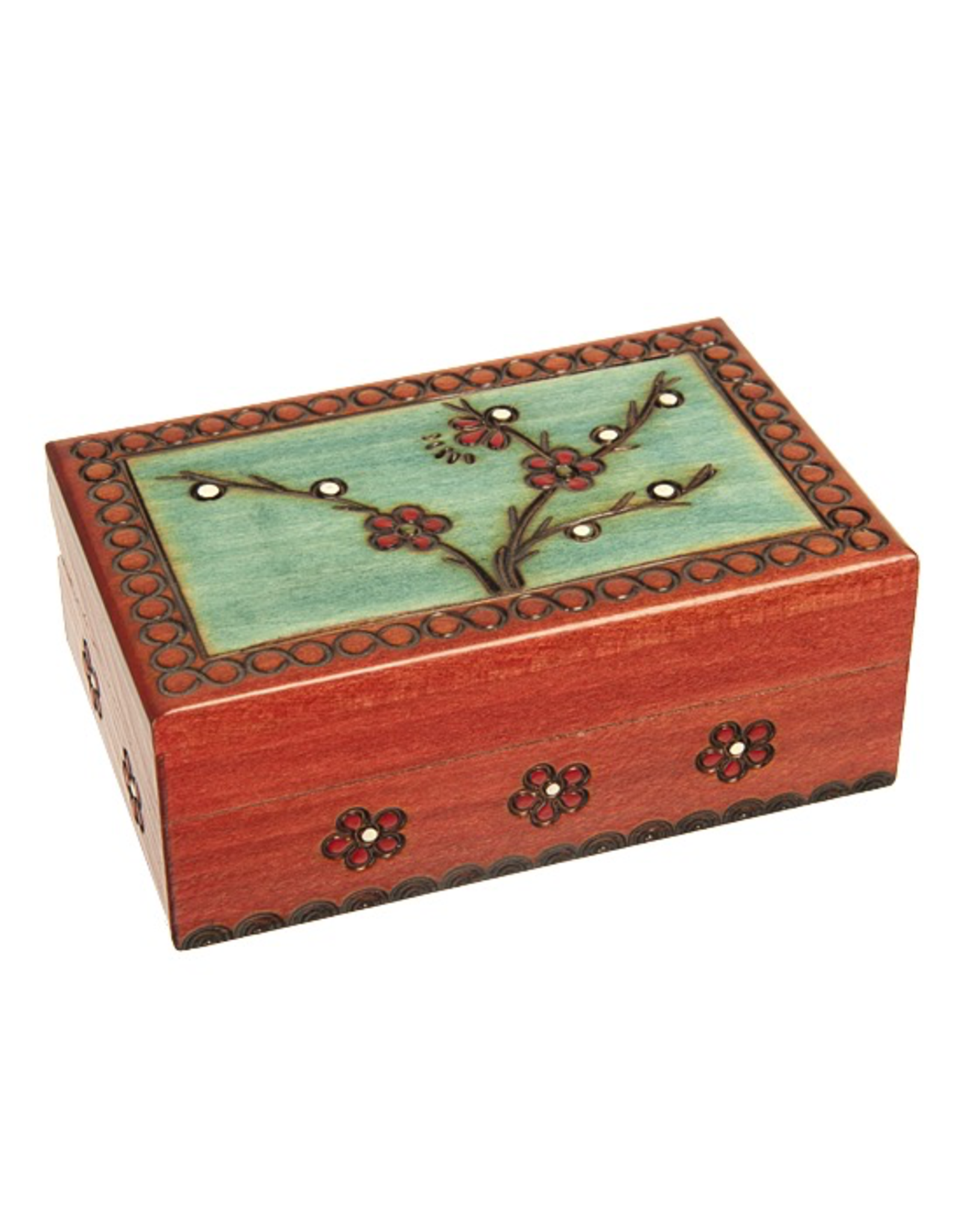Enchanted Boxes Small Blooming Plum Wooden Box