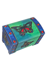 Enchanted Boxes Butterfly Medium Trunk Wood Box