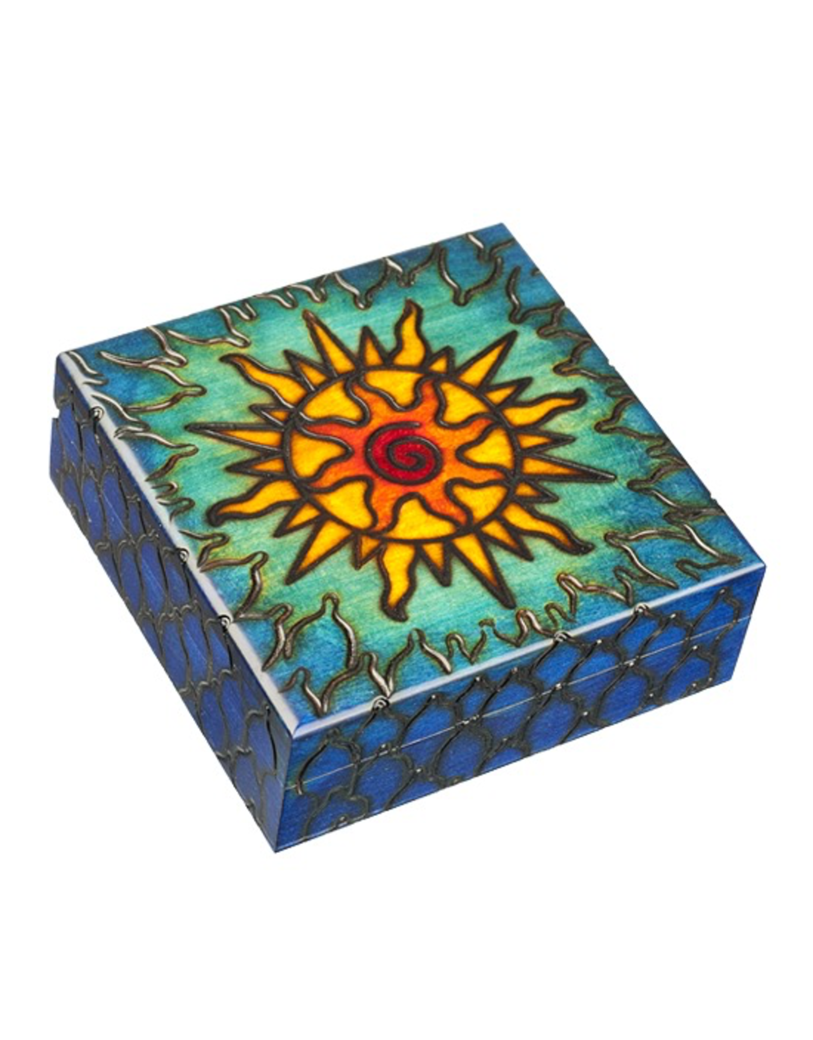 Enchanted Boxes Solar Wind Wood Box