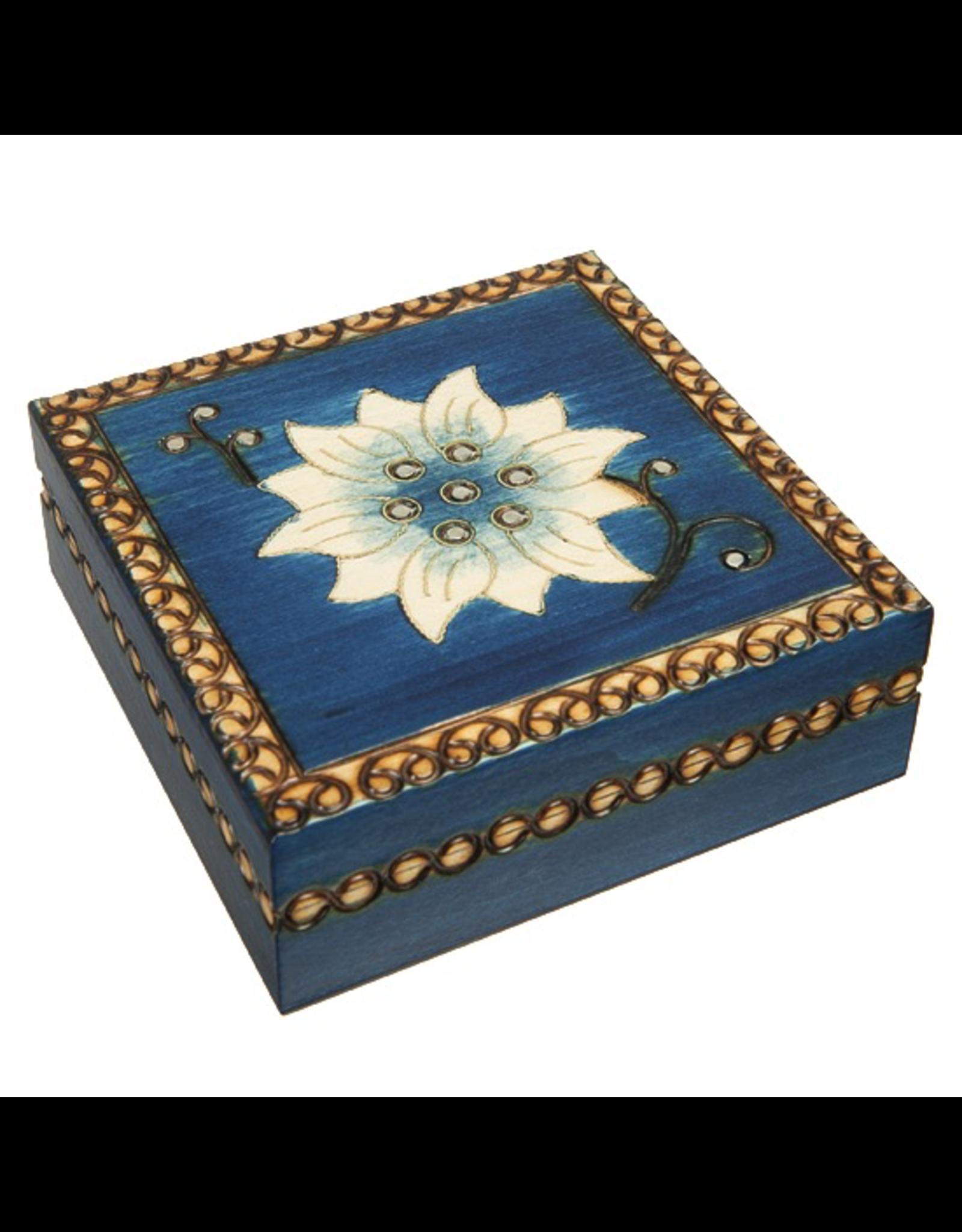 Enchanted Boxes Chakra Tierra Flower Wood Box
