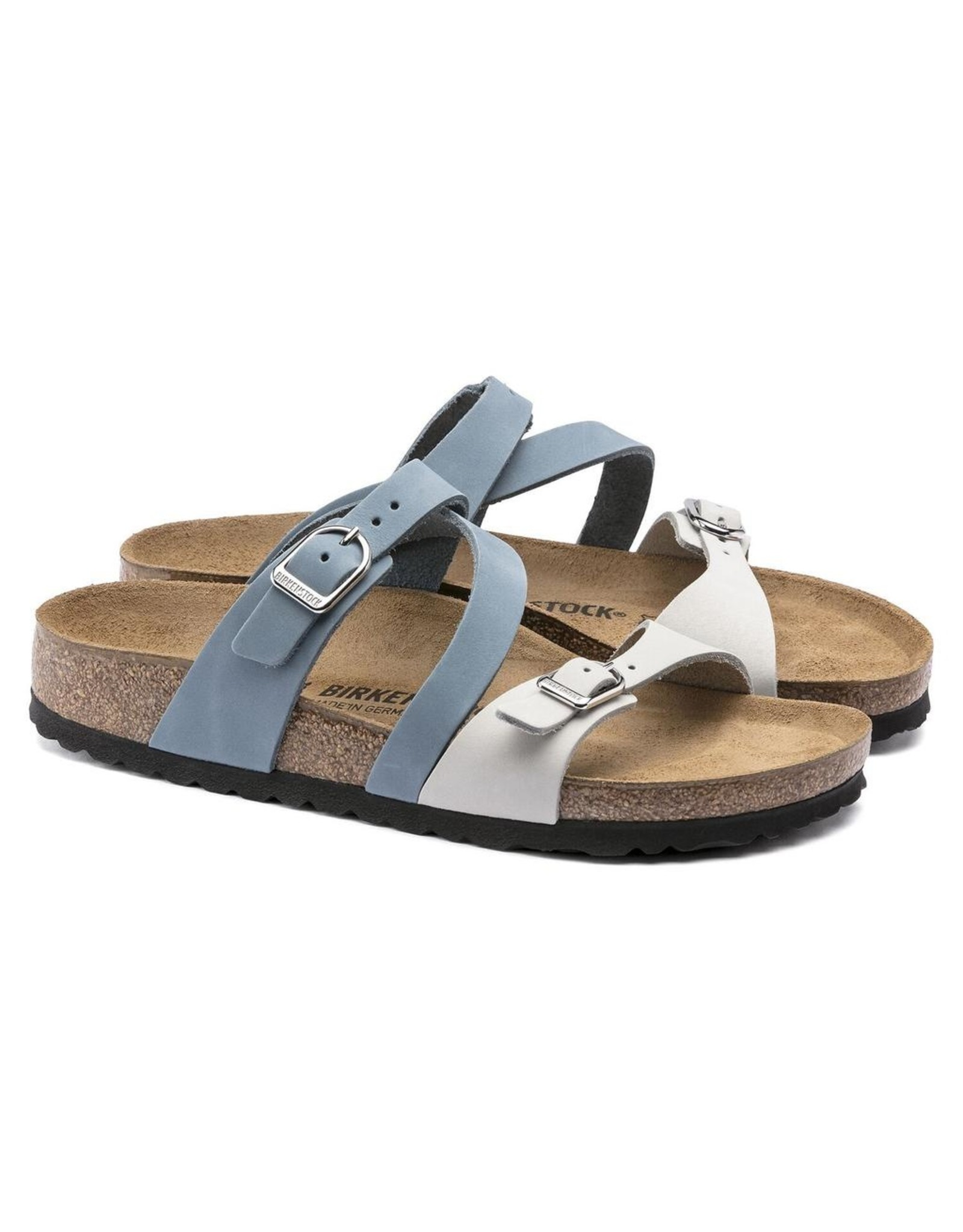 Birkenstock Salina Sandal Dove Blue & Mineral Nubuck Leather