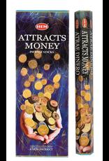 HEM 20 Gram Attracts Money Hex Box Incense