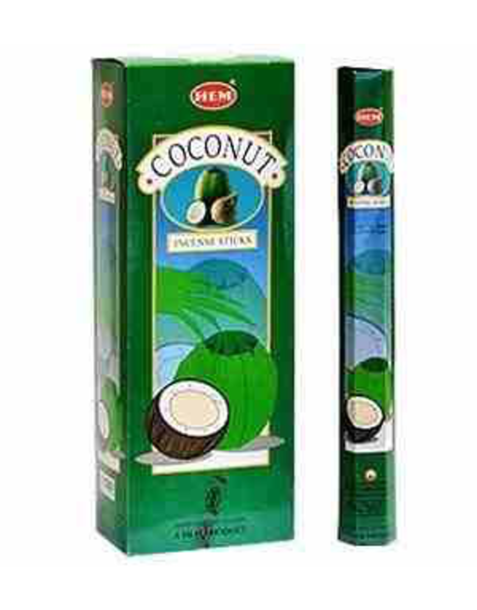 HEM 20 Gram Coconut Hex Box Incense