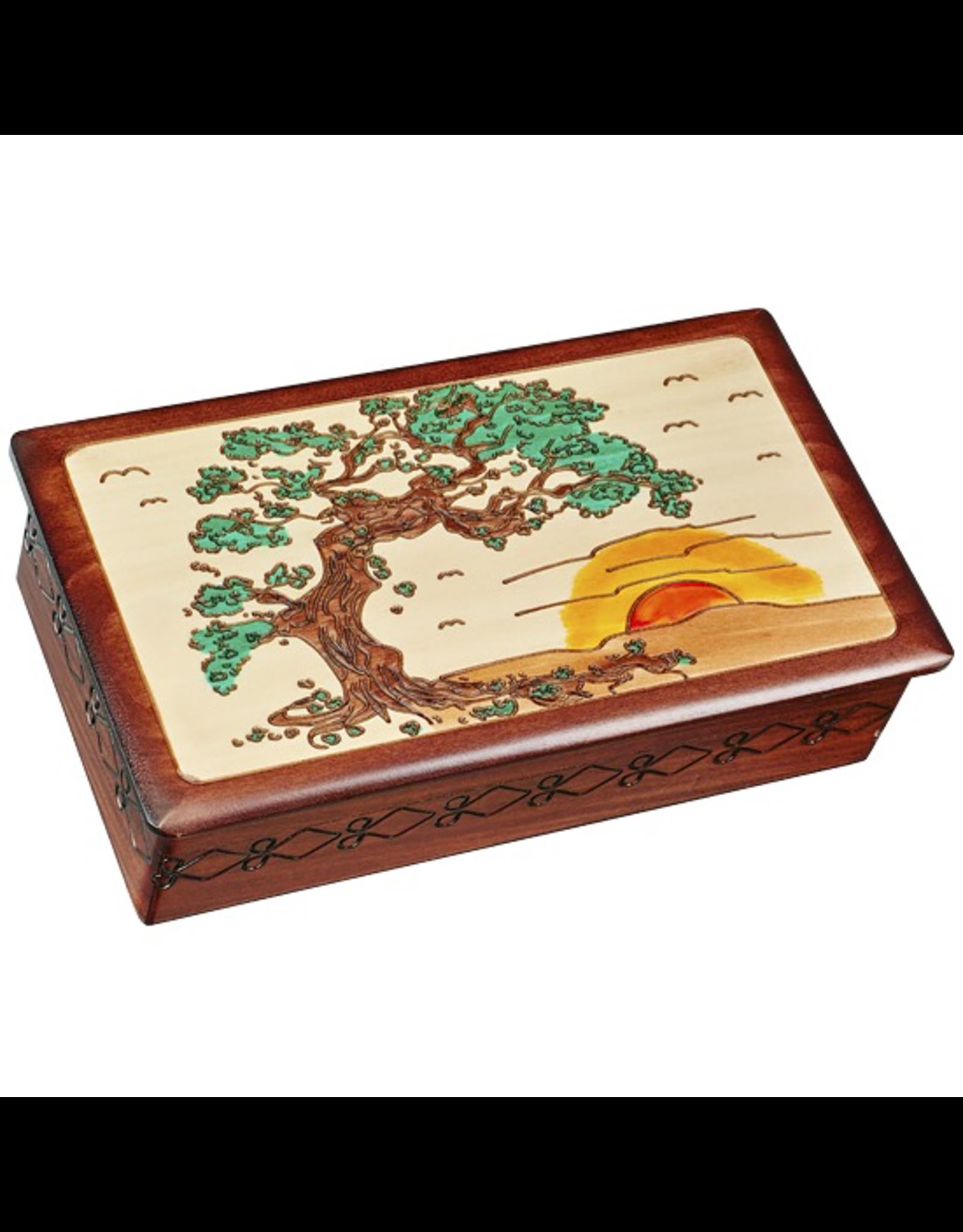 Enchanted Boxes Sunset Japanese Bonsai Wood Box
