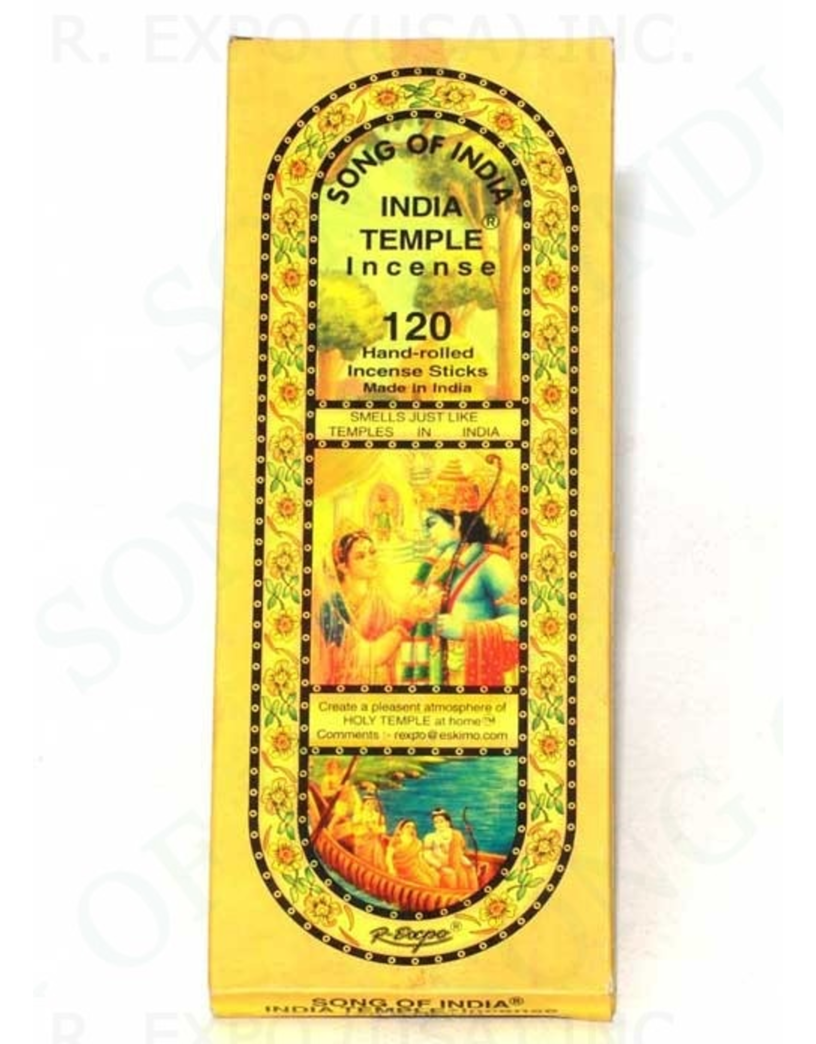 India Temple Incense 120 Pack