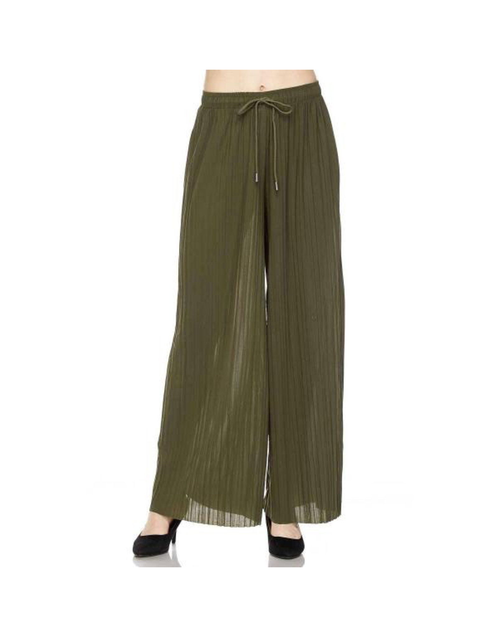 Magic Scarf Georgette Pleated Wide Leg Pant