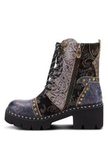 Severe Tooled Leather Bootie
