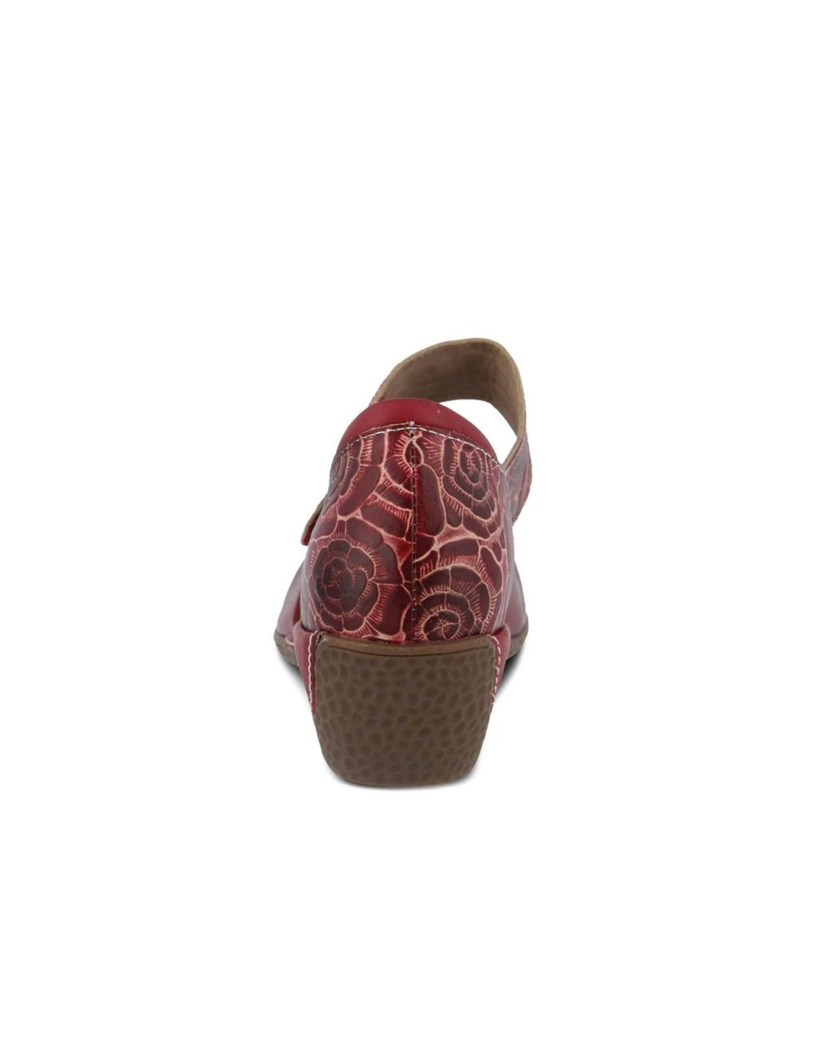 Gloss Pansy Leather Sandal