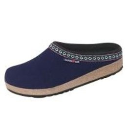 Wool Felt Navy Grizzy Clog