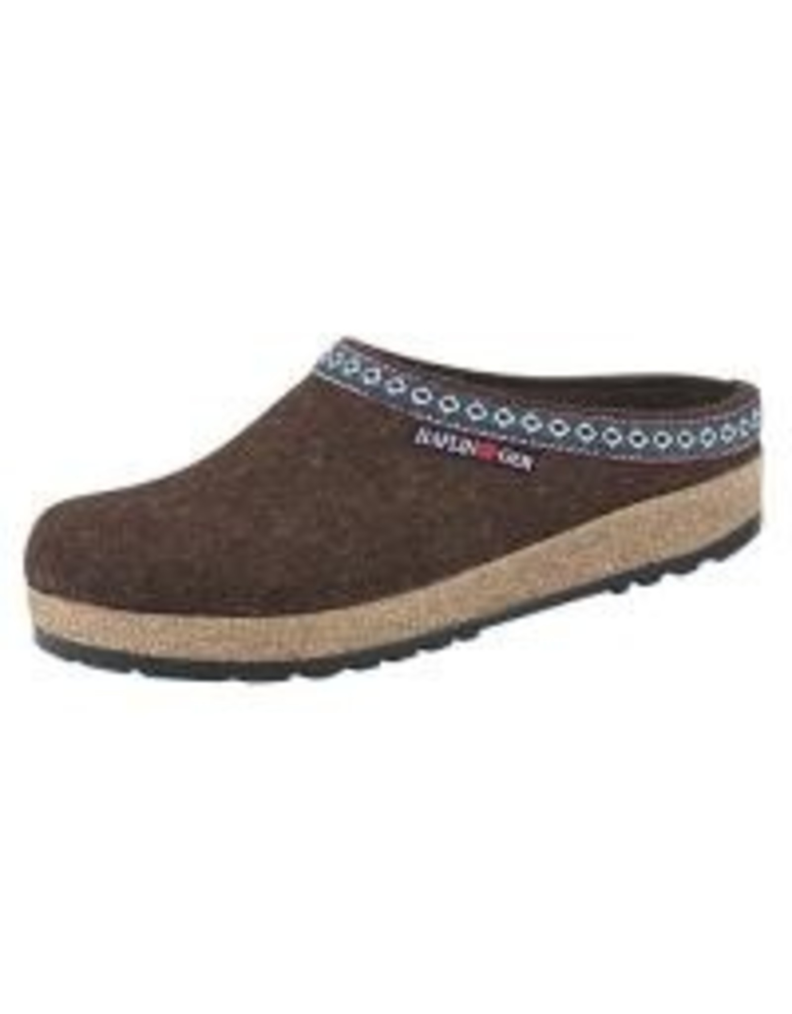 Wool Felt Chocolate Grizzy Clog