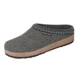 Wool Felt Grey Grizzy Clog