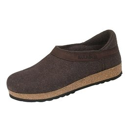 Wool Felt Grizzly Smokey Brown Clog