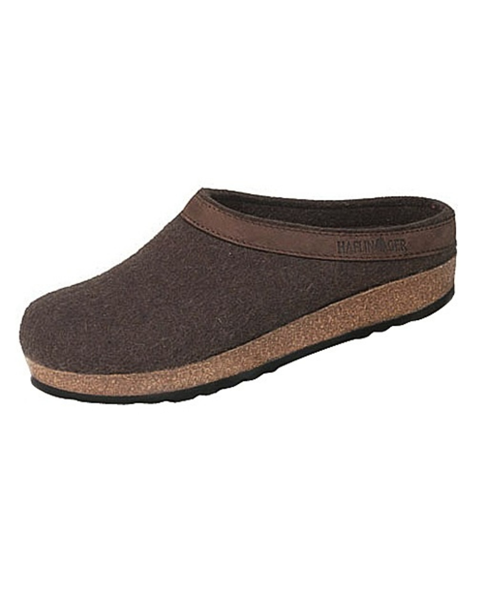 Wool Felt Grizzly Clog Leather Trim
