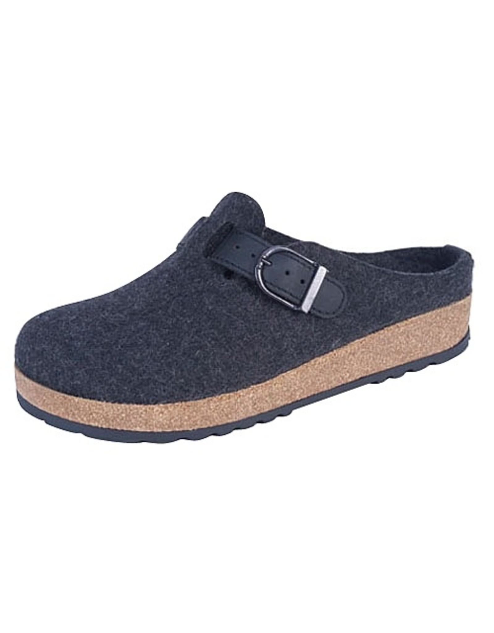 Wool Felt Grizzy Buckle Clog