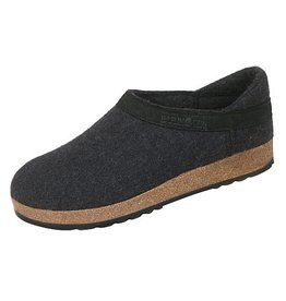 Wool Felt Grizzly Charcoal Clog
