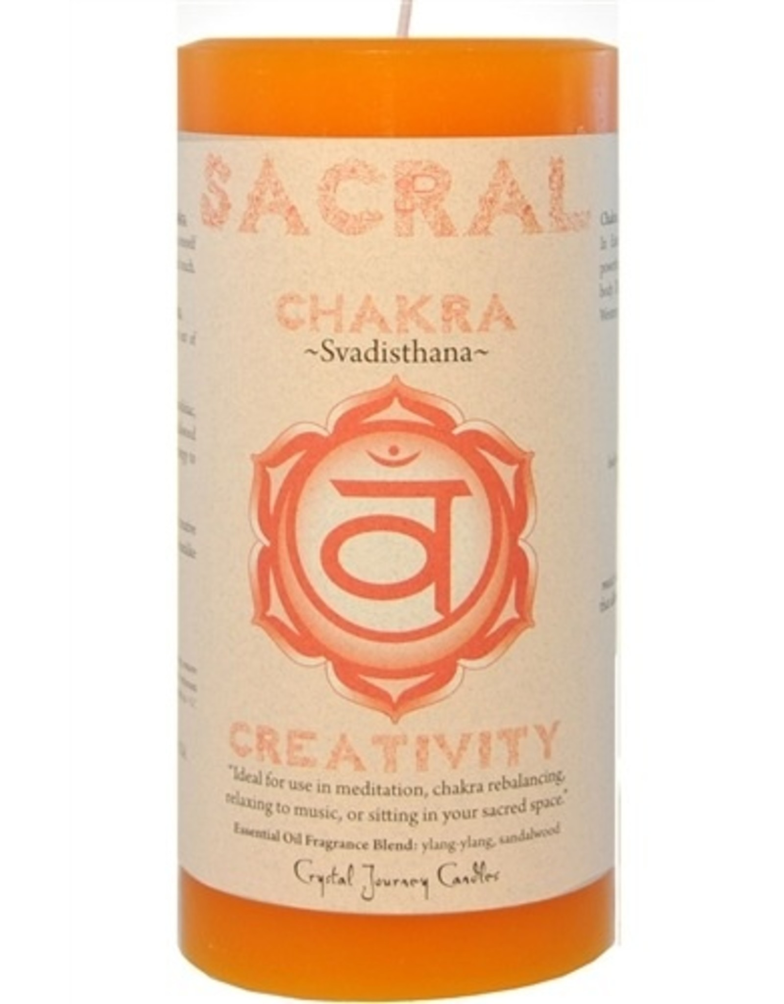Crystal Journey Sacral Chakra Candle