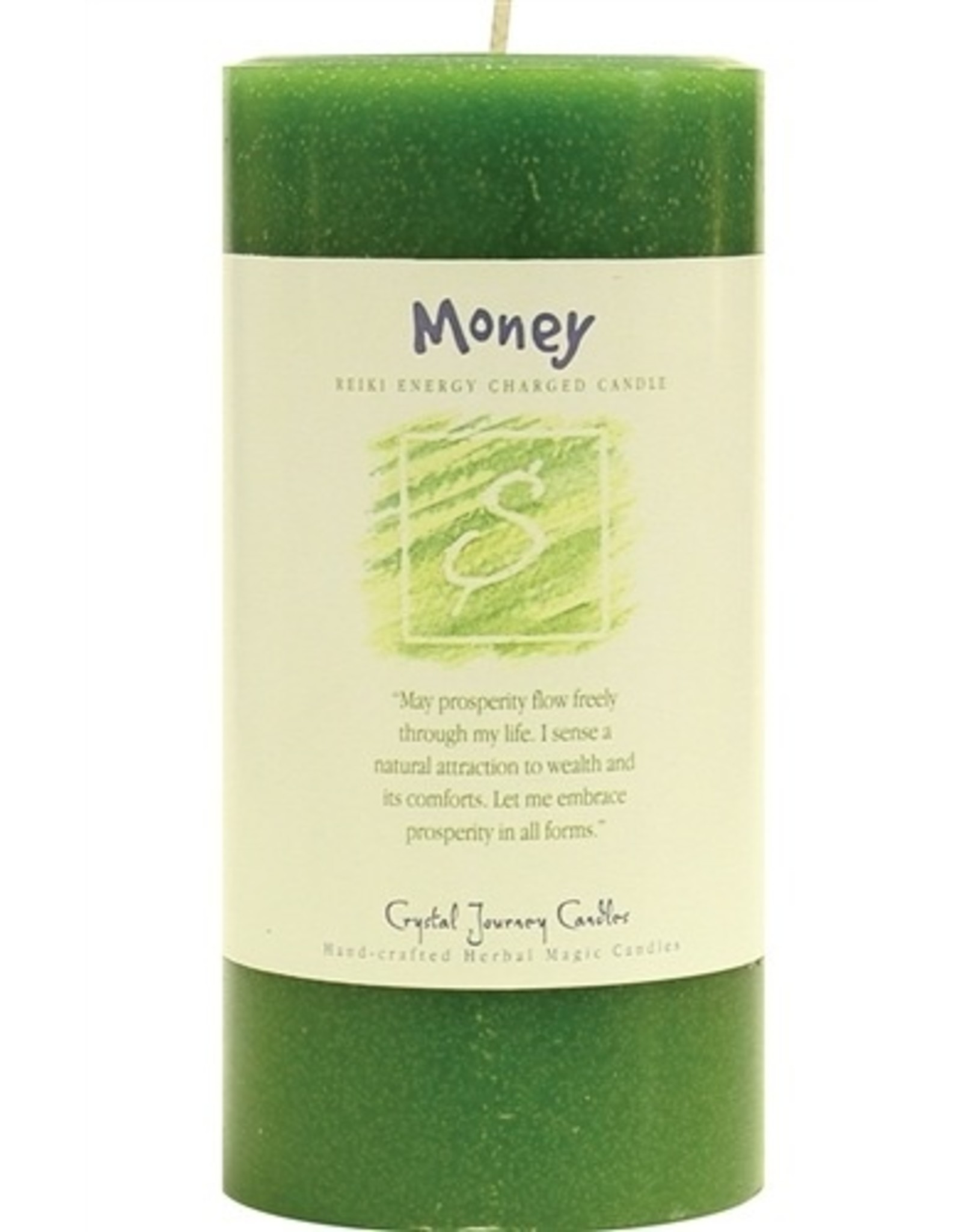 Crystal Journey Money Candle