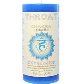 Crystal Journey Throat Chakra Candle