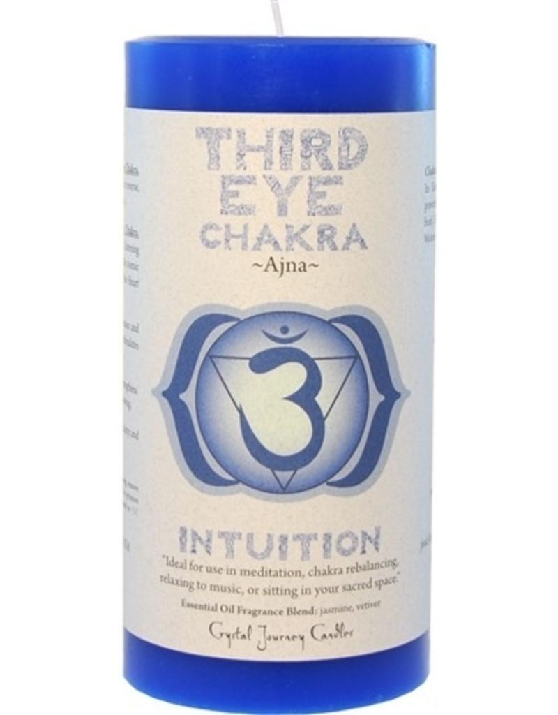 Crystal Journey Third Eye Chakra Candle