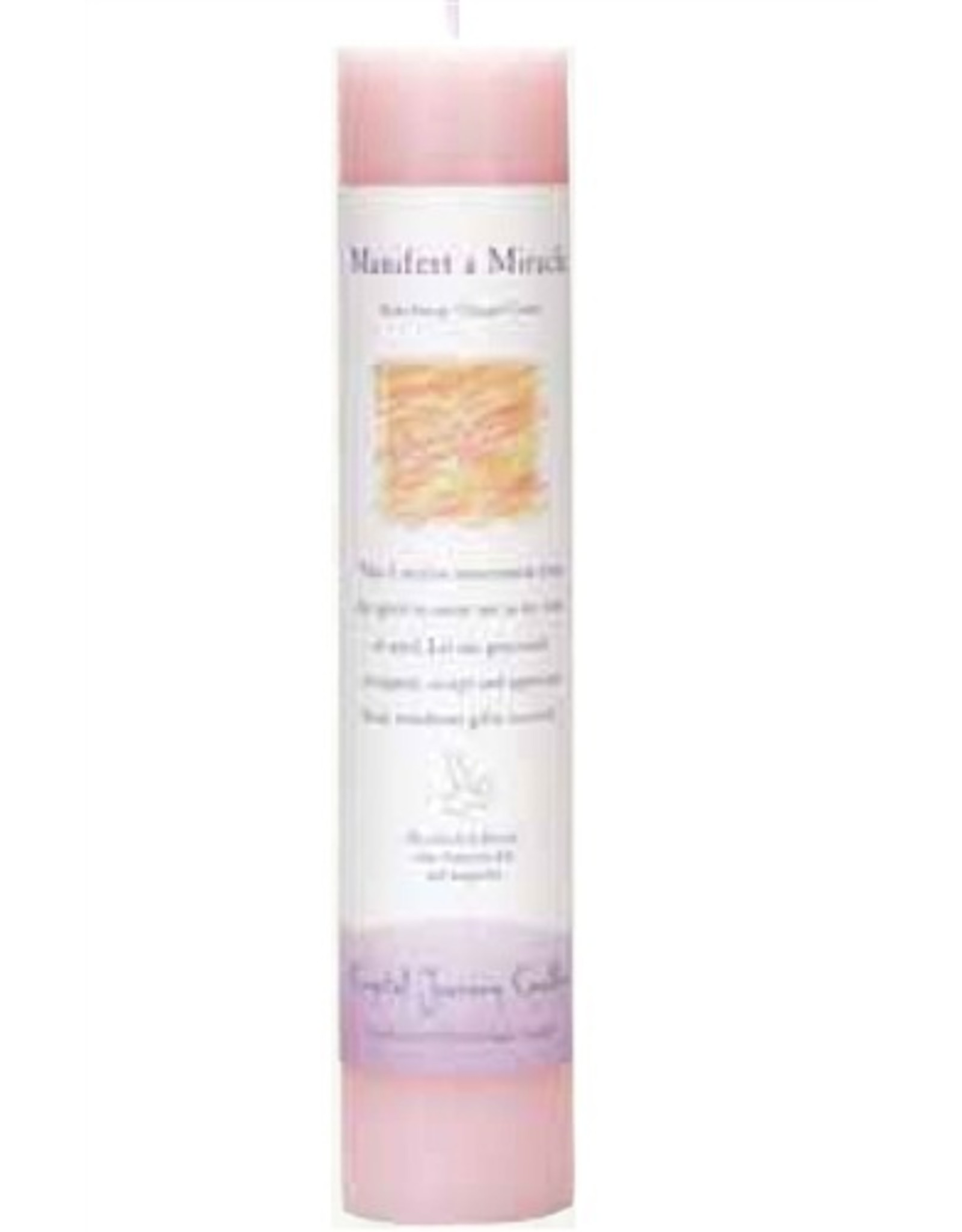 Crystal Journey Manifest a Miracle Magic Pillar Candle