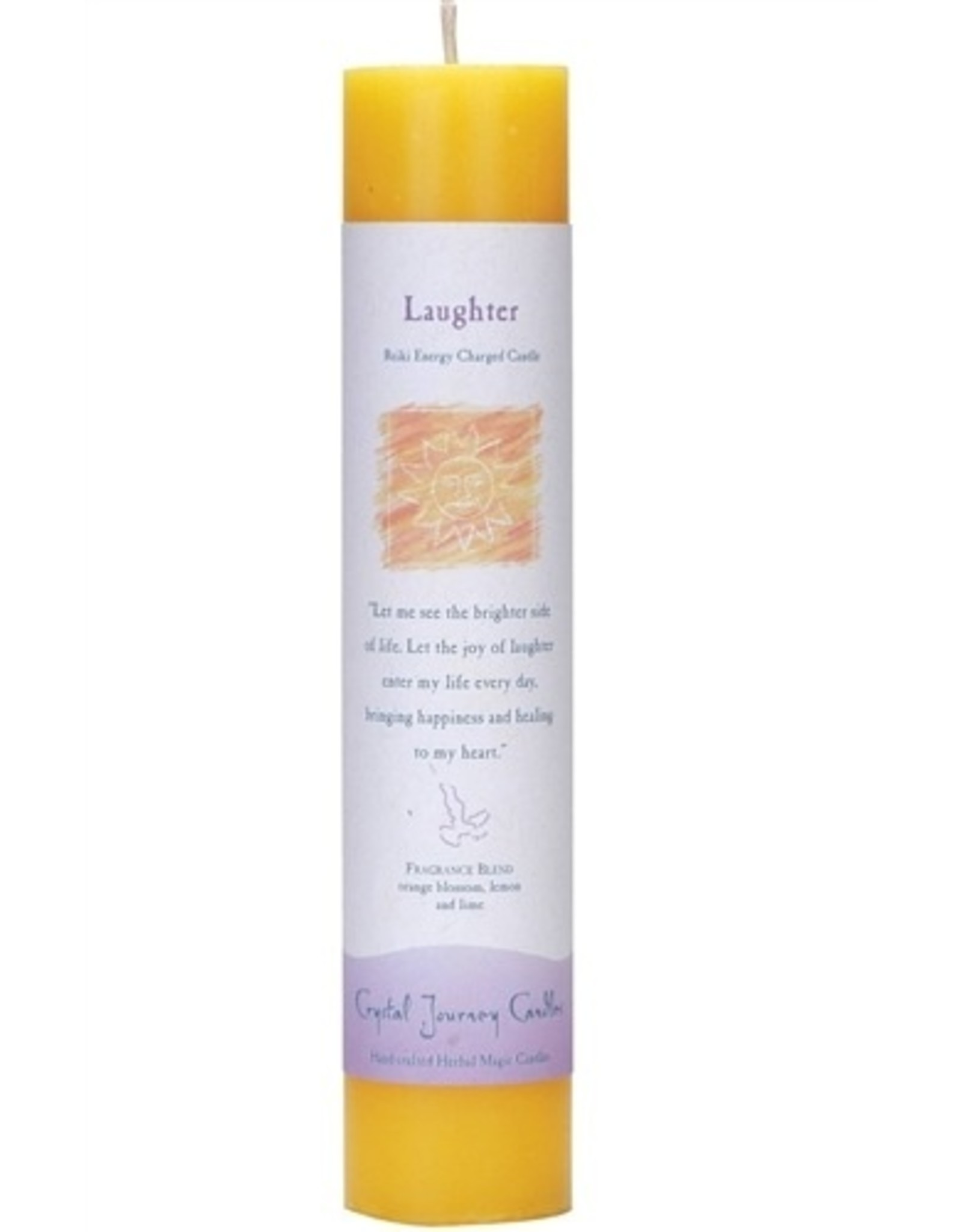Crystal Journey Laughter Magic Pillar Candle