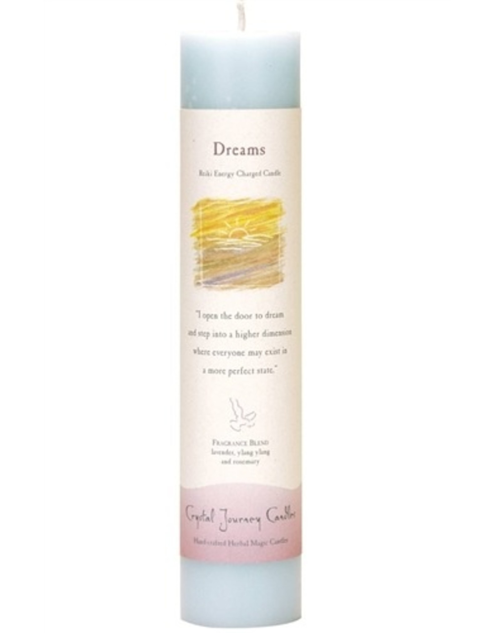 Crystal Journey Dreams Magic Pillar Candle