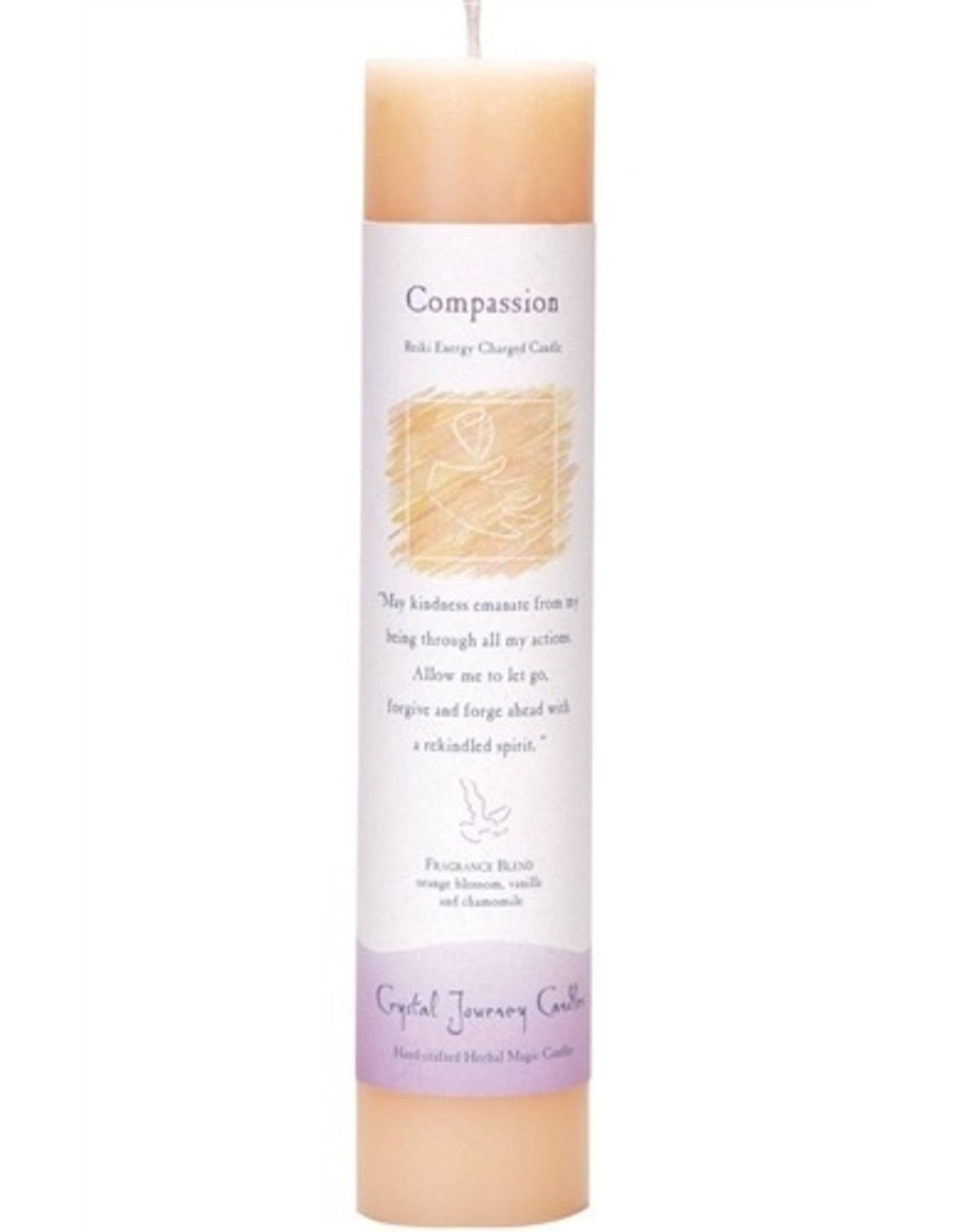Crystal Journey Compassion Magic Pillar Candle