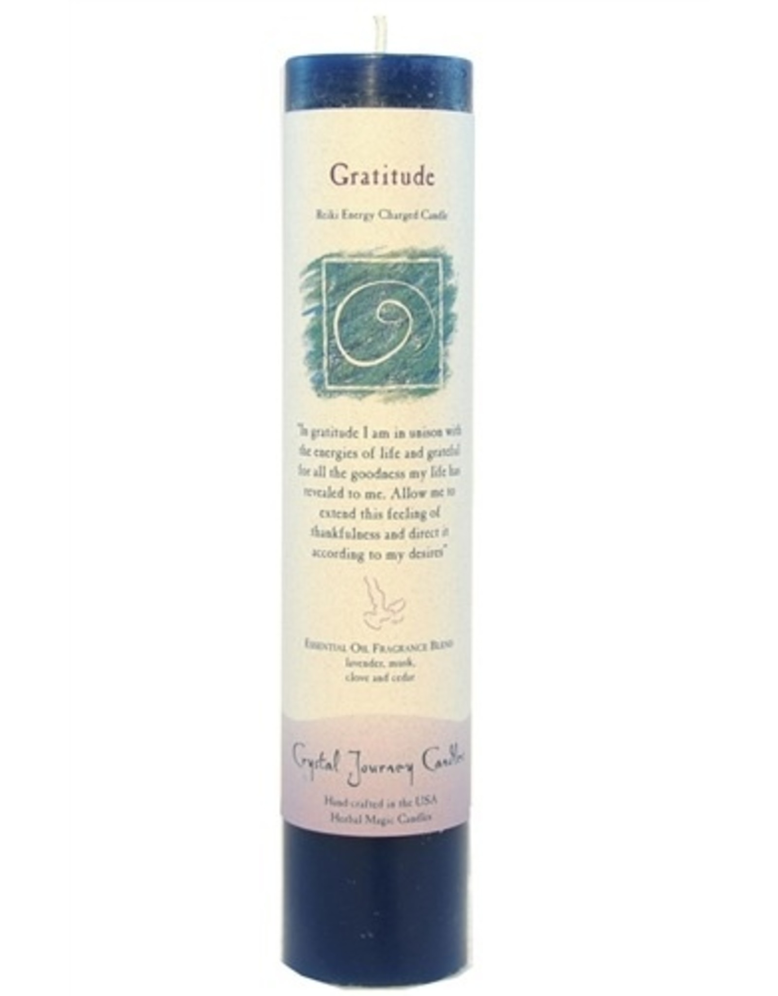 Crystal Journey Gratitude Magic Pillar Candle