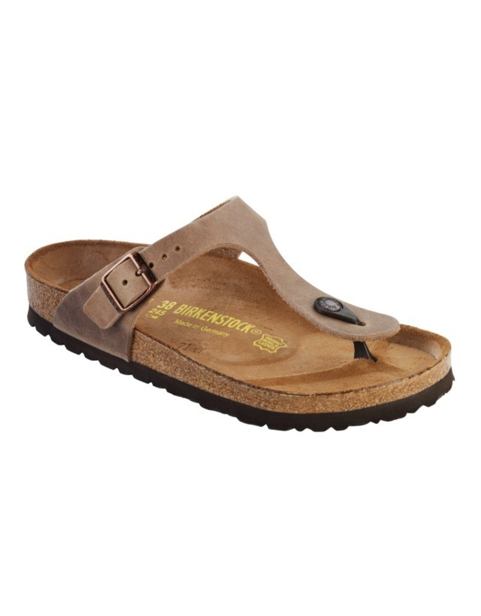 Birkenstock Tobacco Leather Gizeh Sandal