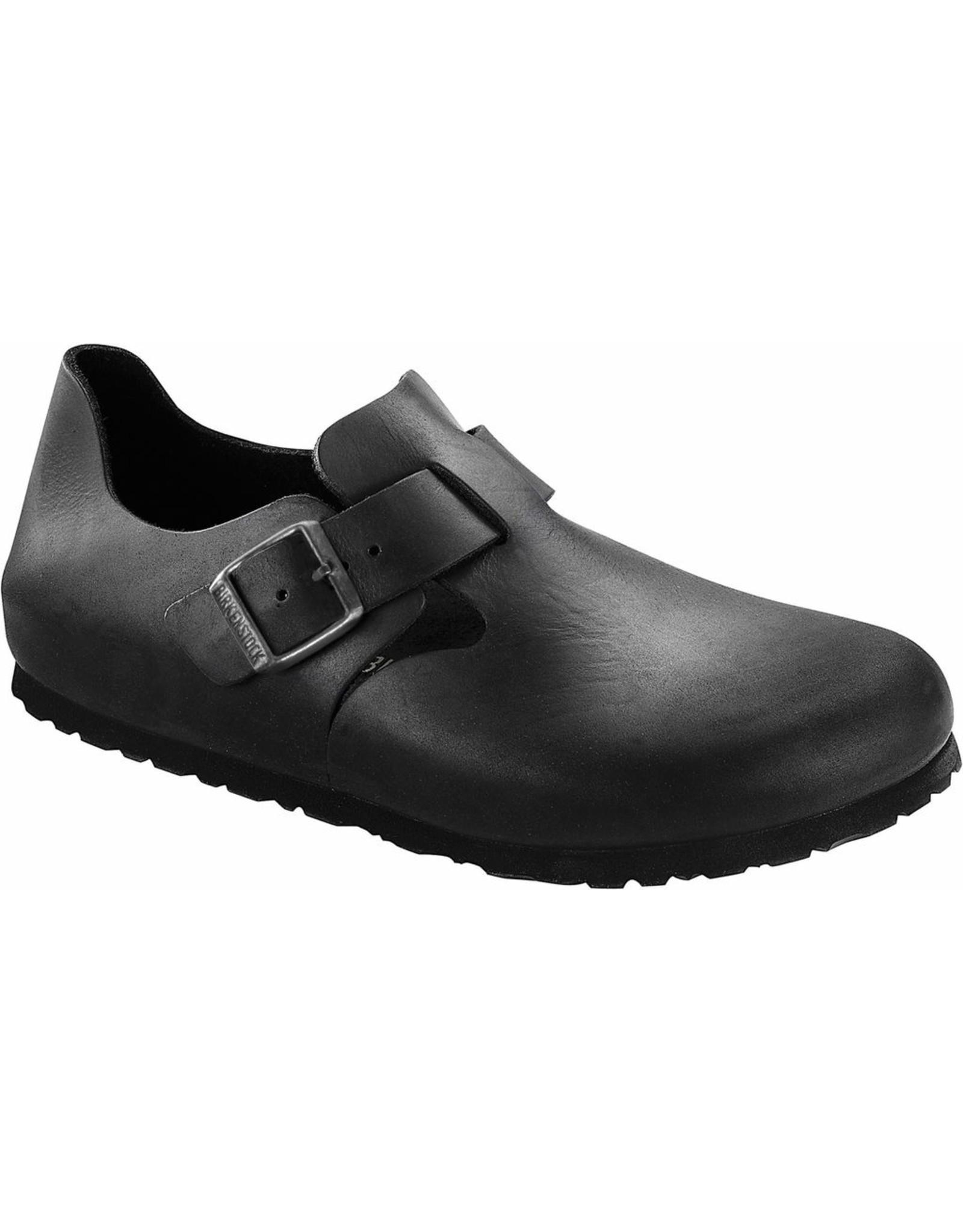 Birkenstock London Black Oiled Leather Shoe