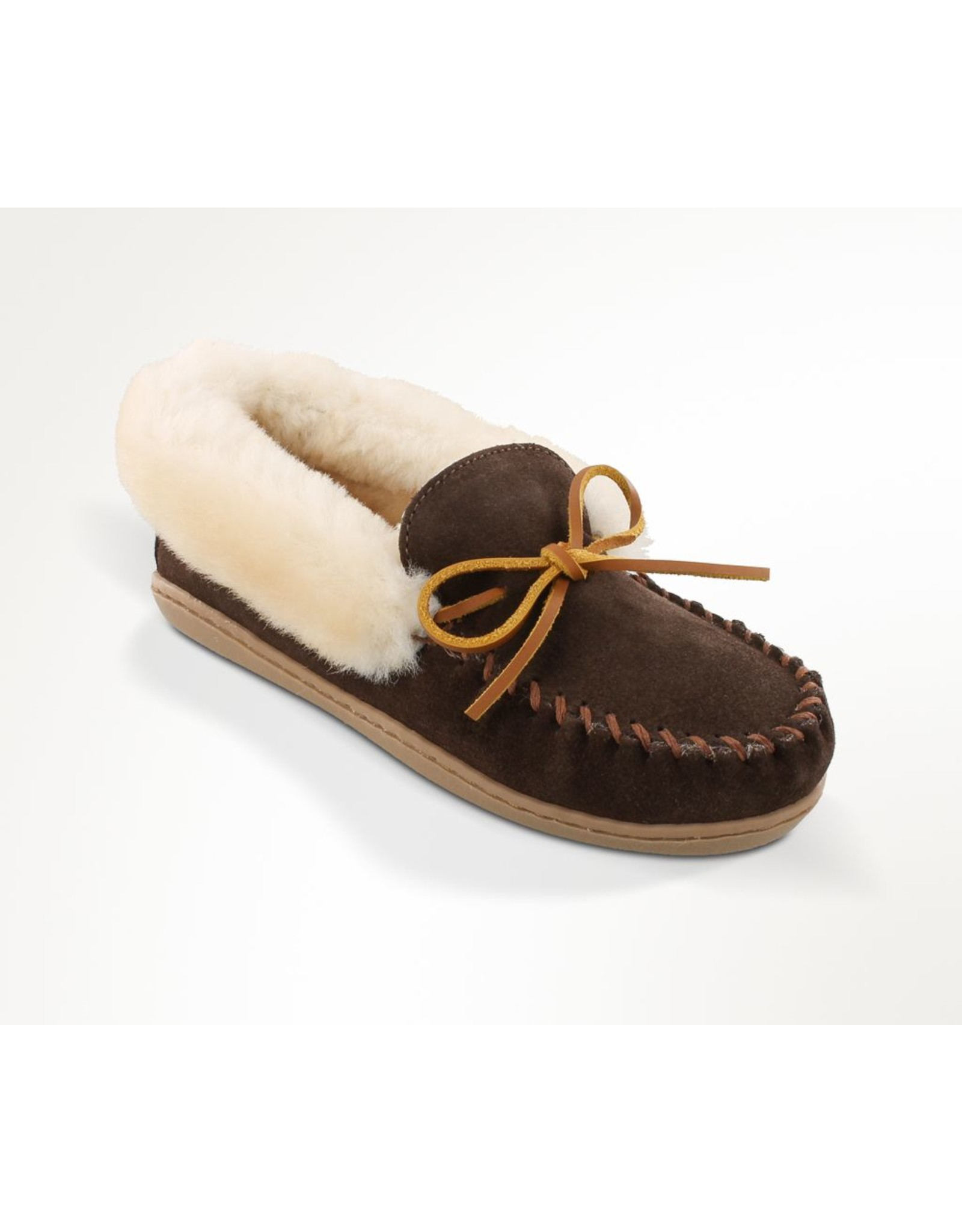 Minnetonka Alpine Chocolate Sheepskin Moc