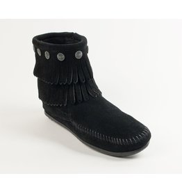 Minnetonka Double Fringe Side Zip Boot