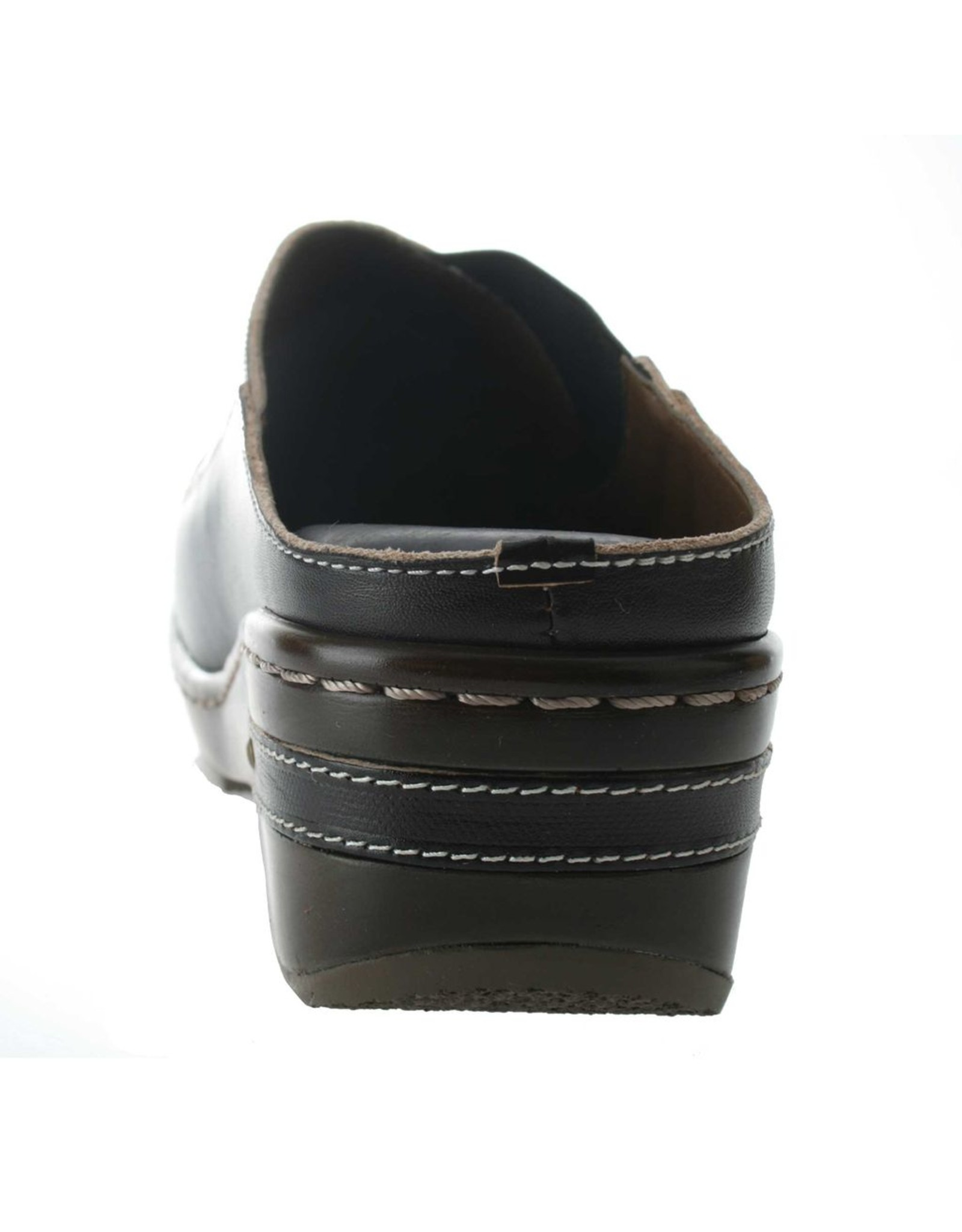 Chino Black Leather Clog